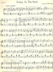 תווים לשיר עם אמריקאי